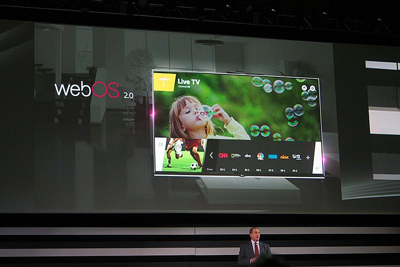 Smart TVのOSにはバージョンアップにより高速化したWeb OS 2.0を採用