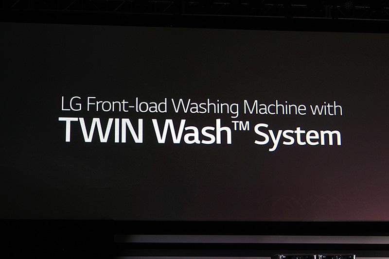 白物家電では、ドラム式の洗濯乾燥機にTWIN WASHシステムを世界で初めて採用