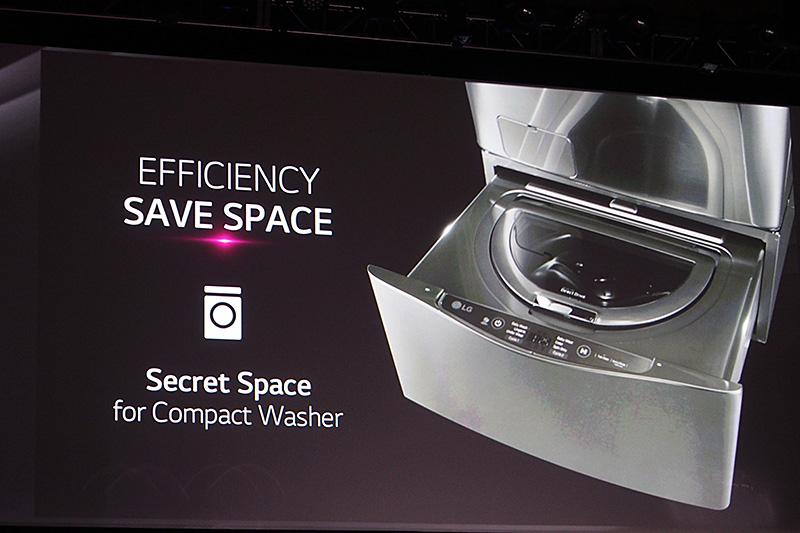 正面ドアのタイプでは洗濯物の出し入れを容易にするとドラム位置が高くなるため、下部にデッドスペースが生まれるのは事実。ここに2つ目の洗濯槽を入れた