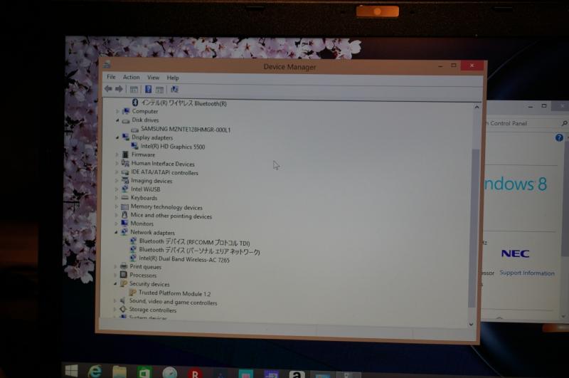 HZ550のデバイスマネージャの表示