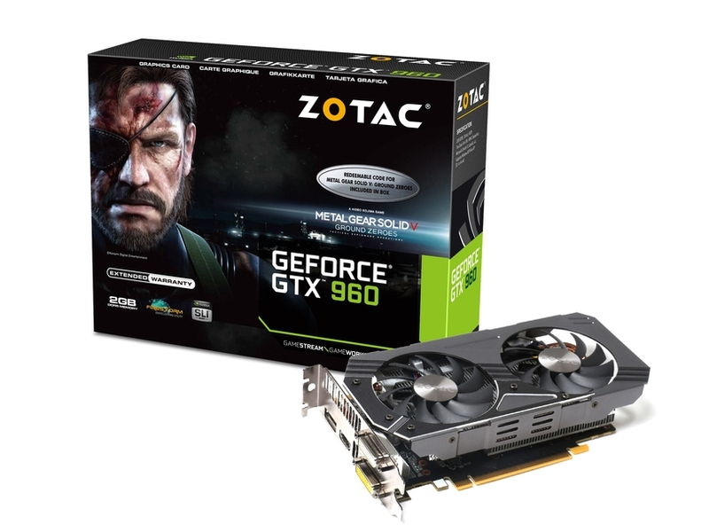 ZOTAC「ZOTAC GeForce GTX 960 METAL GEAR SOLID V」