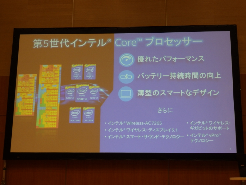 第5世代Coreプロセッサの特徴