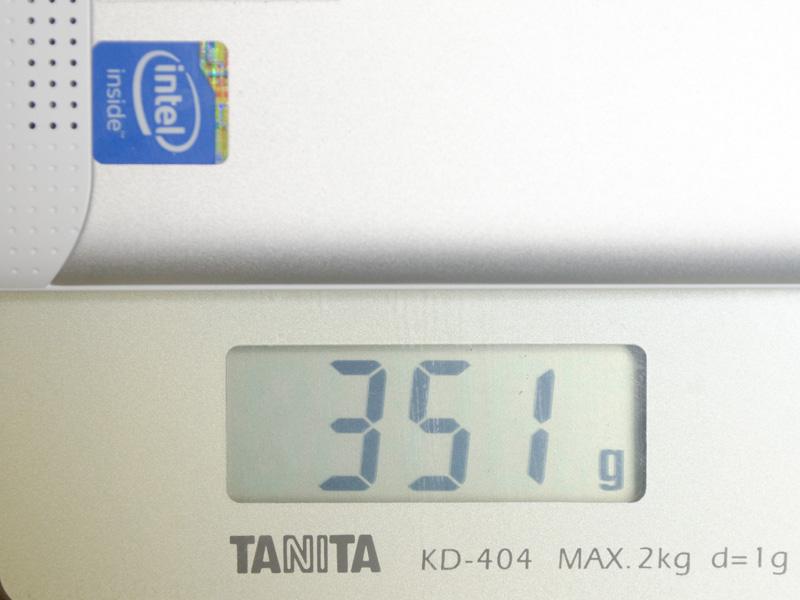 重量は実測で351g
