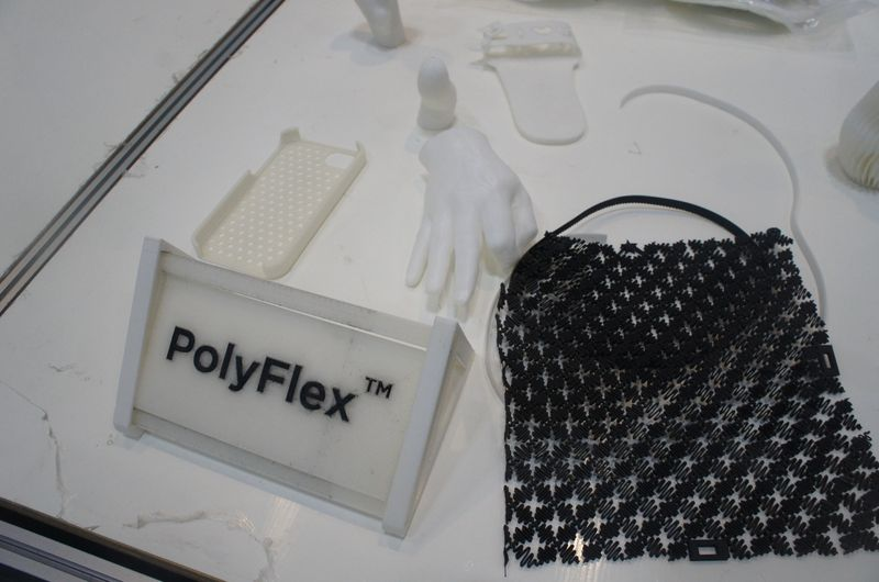 PolyFlexの出力例。柔らかく弾力がある