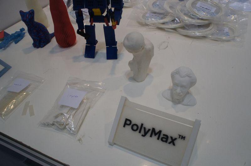 PolyMaxの出力例。通常のPLA対応3Dプリンタで利用できる