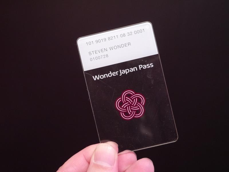 入国から出国時まで1枚のカードで過ごすことを目指した「Wonder Japan Pass」