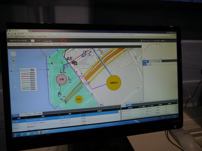 災害情報とビッグデータをもとに適切な誘導路を指示することができる