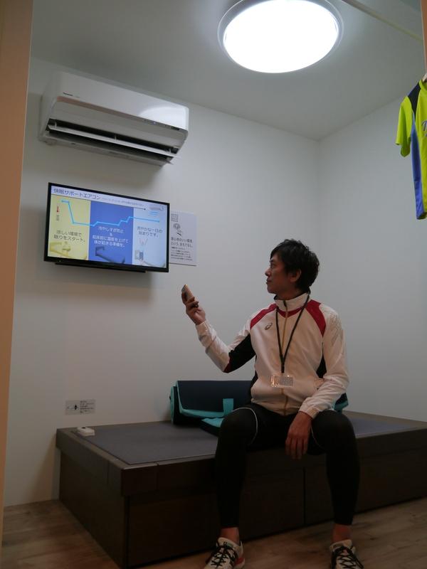 選手の快眠をサポートするエアコンの設置