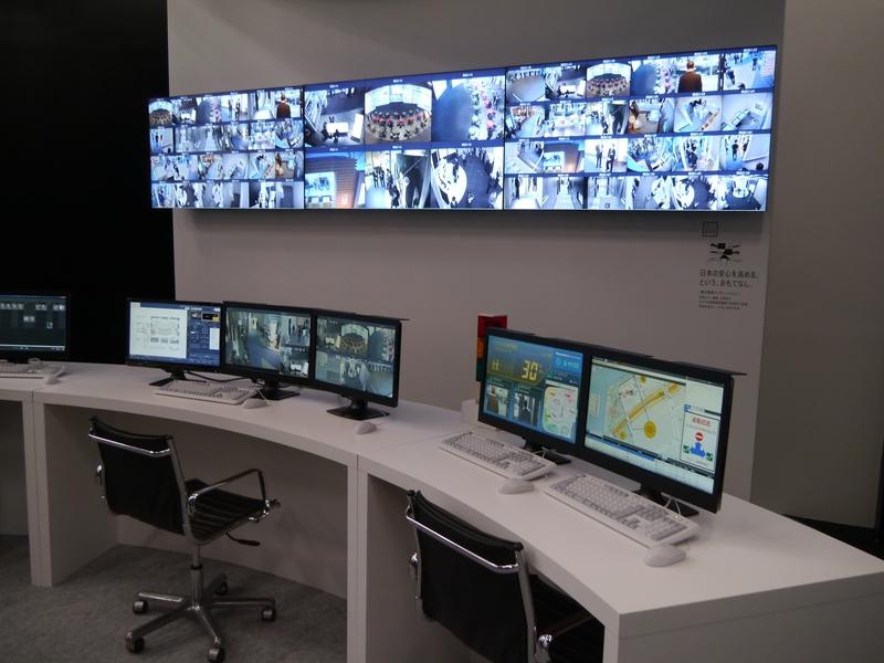 センサーとカメラによる大規模監視を行なう統合監視センターシステム