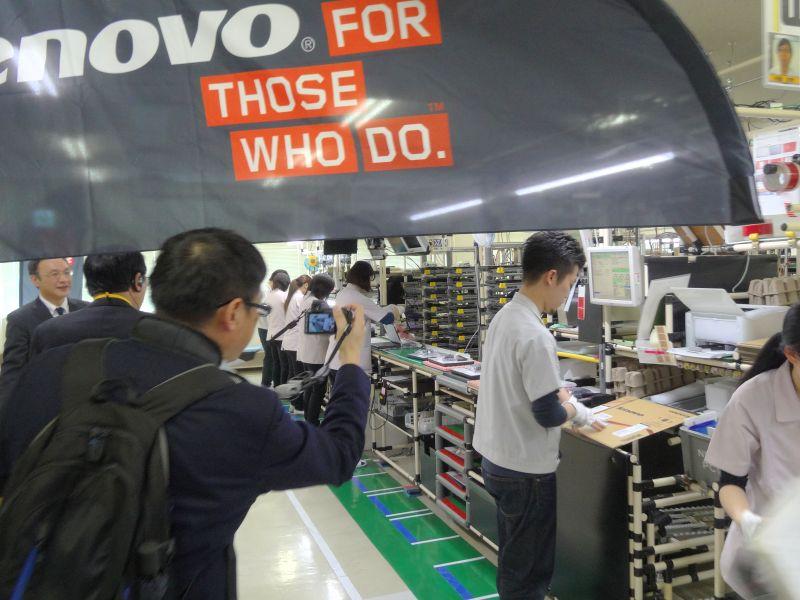 米沢事業場のThinkPad製造ライン