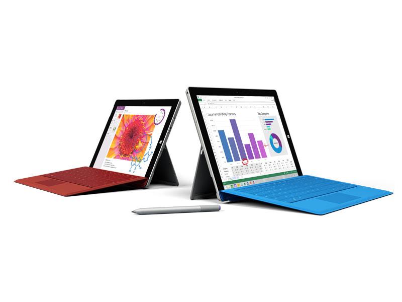 Surface 3は、Surface 2の後継だが、CPUはIA、OSはWindows 8.1に変更されており、オプションのタイプカバーキーボードと組み合わせて2-in-1型PCとして活用できる