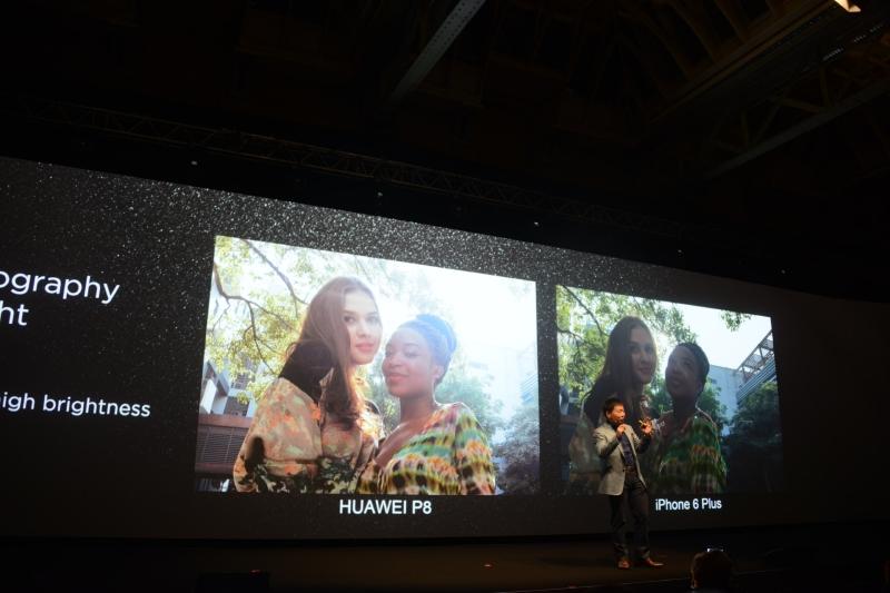 逆光時の自動露出についてもiPhone 6 Plusと比較