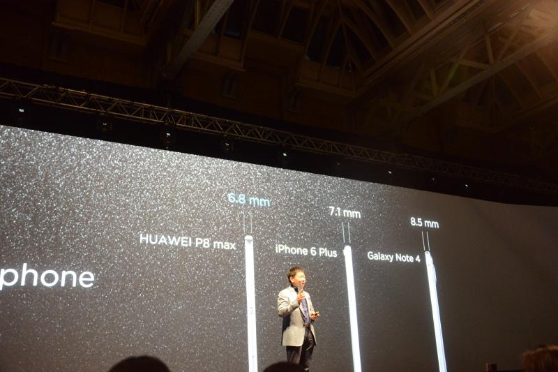 薄さにおいてもiPhone 6 PlusやGalaxy Note 4と比較