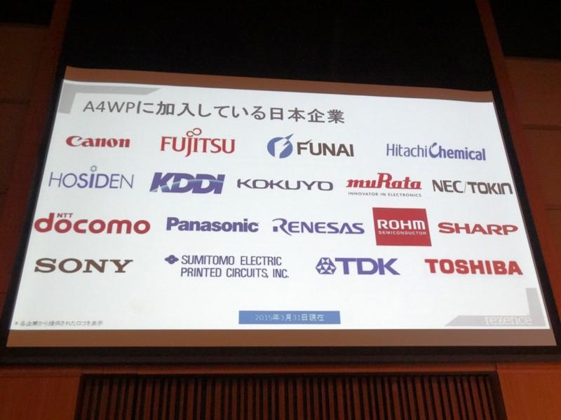 A4WPに加入している日本企業