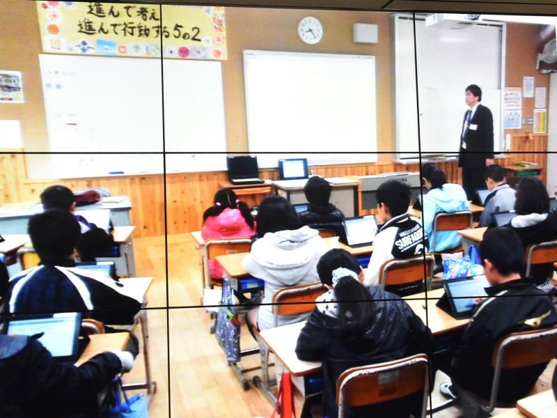 STUDYFITによる児童の学習風景