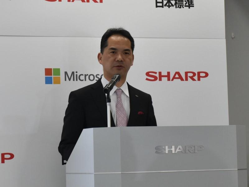 シャープ株式会社 通信システム事業本部 モバイルソリューション事業部 事業部長の辰巳剛司氏