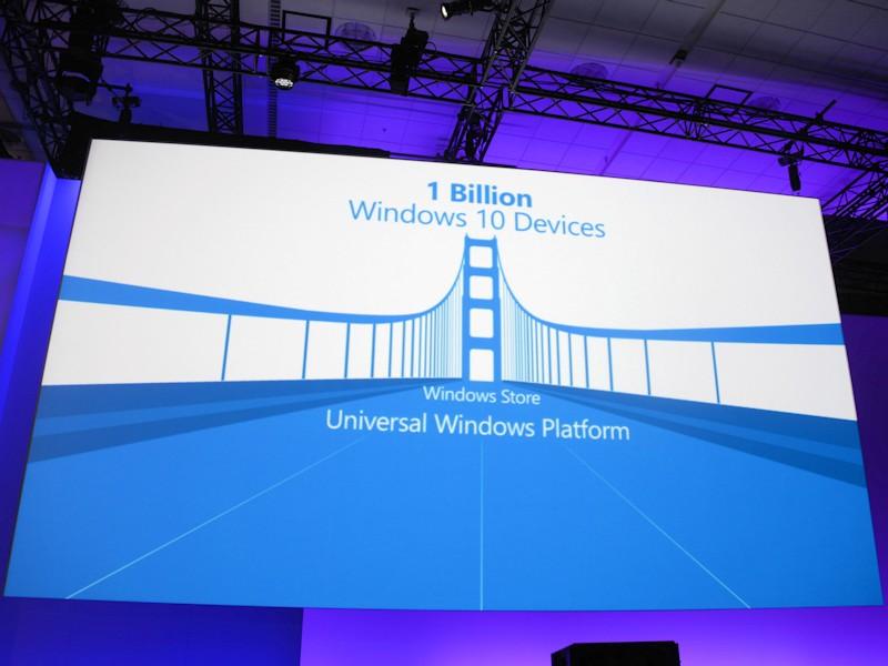 2~3年後には、10億台の大台に乗るとされるWindows 10デバイス