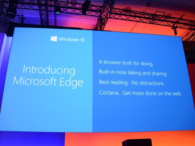 Project Spartanのコードネームで呼ばれてきた新ブラウザは「Microsoft Edge」と命名された。