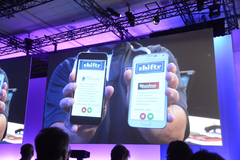 Android端末でも、Windows Phone端末でも同じように稼働するアプリ