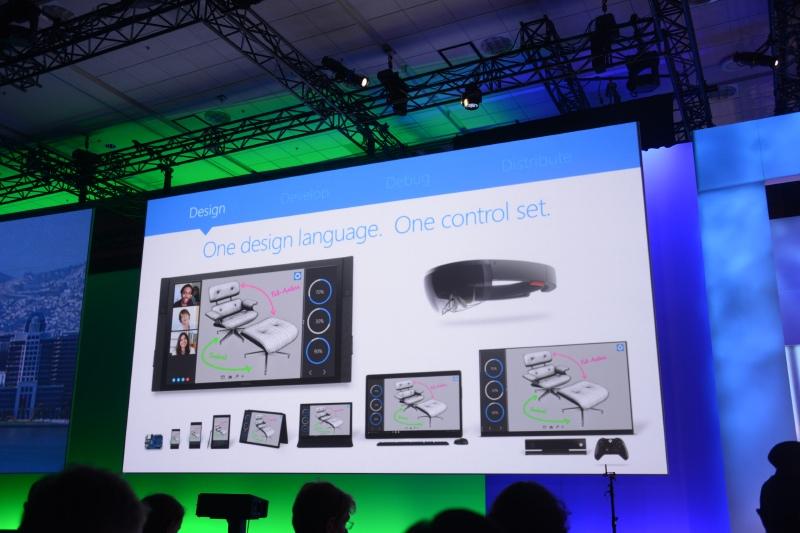 One design language, One control setの概念。1つのアプリがあらゆるデバイスで稼働