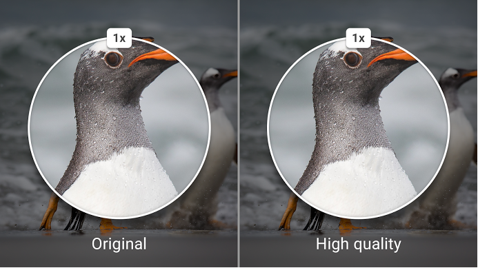 写真や動画は一定サイズまでなら高品質のまま保存され、無制限にアップロード可能