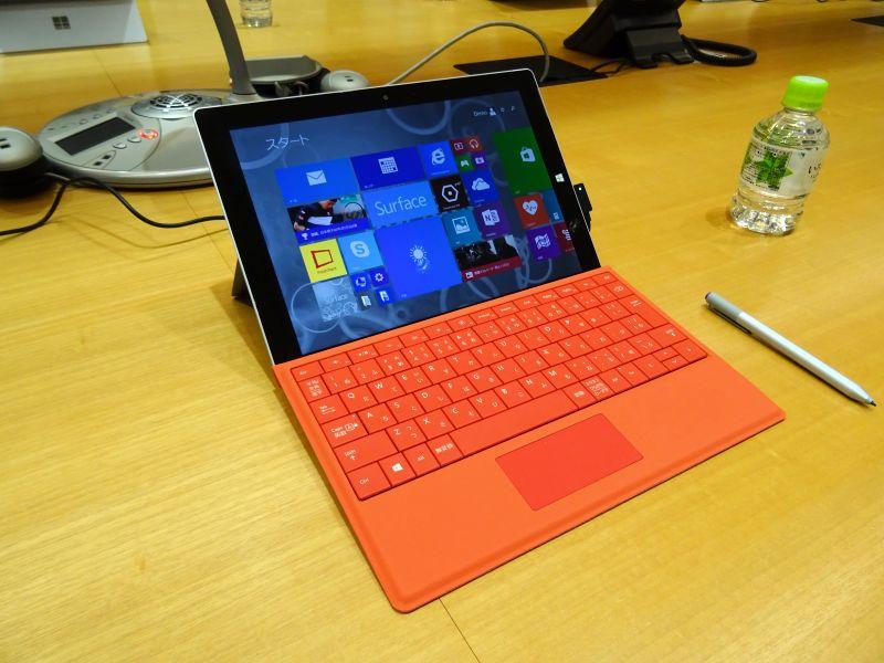 Surface 3(キーボードカバー、ペンは別売)