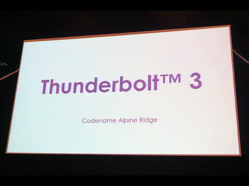 新しい仕様の名前はThunderbolt 3