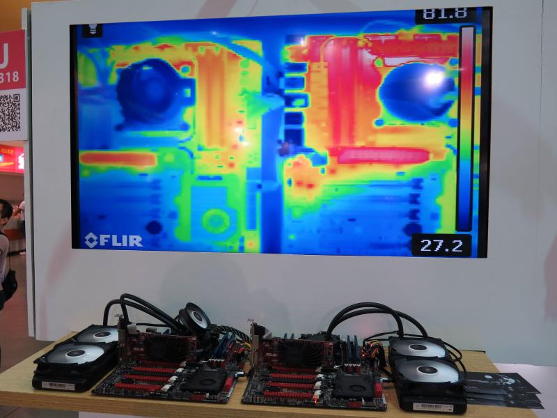 他社と比較して、CPU周辺部品が冷えていることが分かる