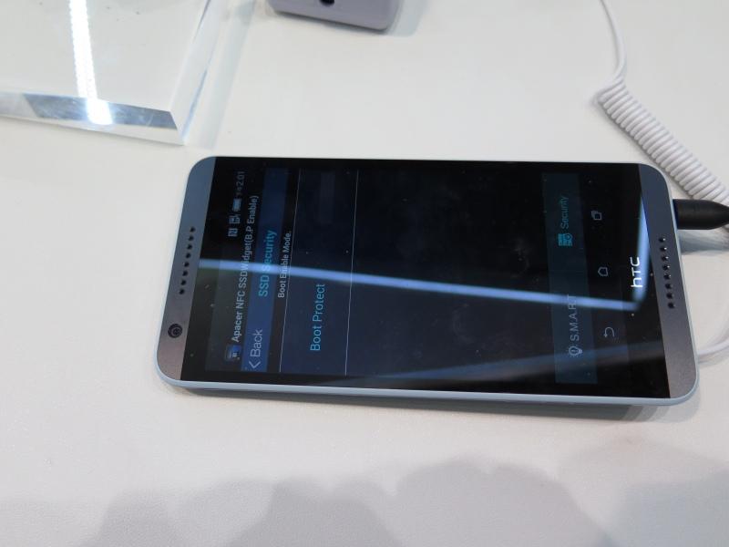 AndroidのアプリをNFC対応スマートフォンに入れることで、起動のロックやS.M.A.R.T監視が行なえる