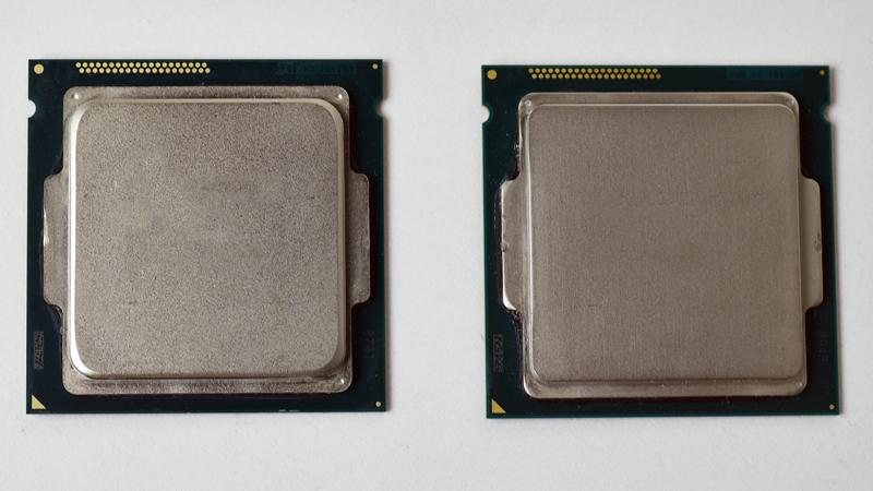Core i7-5775C(左)とCore i5-5675C(右)