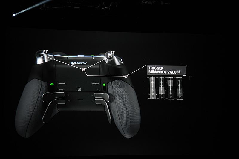 トリガーの反応エリアを任意に設定することができるほか、背面にはパドルレバーも装備