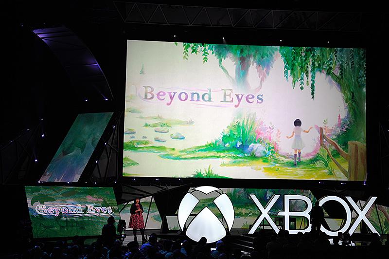 インディーズゲームからは、盲目の少女が触覚や嗅覚などで世界を拡げていく「Beyond Eys」や、80年前のアニメ風キャラクター「CUPHEAD」などが紹介された