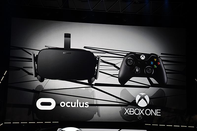 ブリーフィングでのデモはなかったが、先日Oculusから発表されたコンシューマ向けのOculus Riftの発売に際してXbox Oneコントローラが同梱されることが、Microsoft側からも改めて発表された