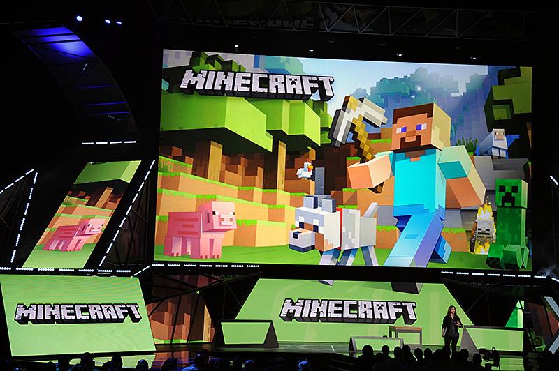 HoloLensのデモに使われたのは、箱庭系ゲームの「Minecraft」