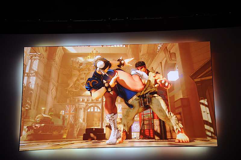 「Street Fighter V Rise Up」。事前予約をすることで、βプレイに参加できる