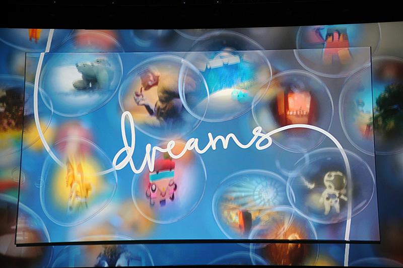 コントローラのDualShock4を使って、フルスクラッチのオブジェクトを作成し、コンテンツを作ることができる「Dreams」
