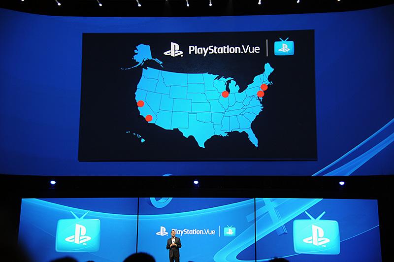 オンデマンドのTV配信サービスである「PlayStation Vue」。ニューヨーク、フィラデルフィア、シカゴに続いて、ロサンゼルスとサンフランシスコへサービス地域を拡大する