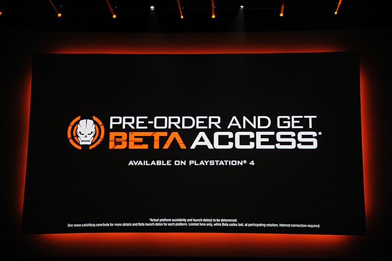 ActiVisionとの関係もさらに強化。Call of Duty Black Ops 3の事前予約で、βアクセスを提供する