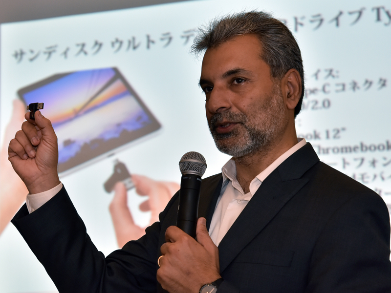 サンディスクコーポレーション バイスプレジデント リテール製品マーケティング担当のDinesh Bahal(ディネシュ・バハール)氏