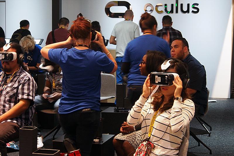 Samsung GEAR VRの体験エリア