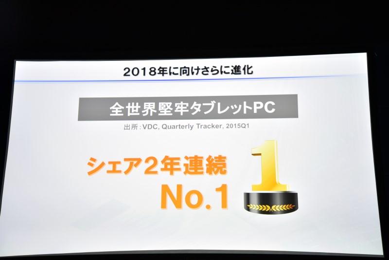 堅牢タブレットPCでは2年連続で世界No.1のシェアを誇る