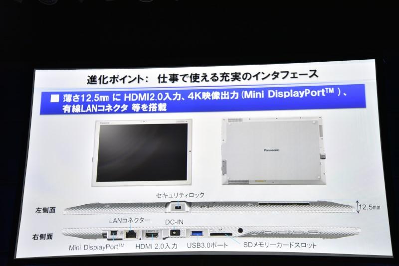 HDMI 2.0入力端子は本体の右側面に用意