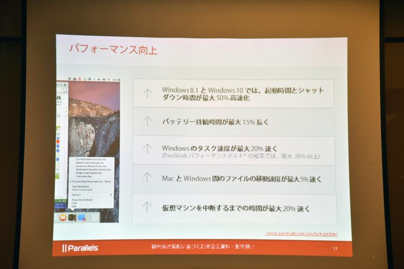 Parallels Desktop 11 for Macの主な強化点