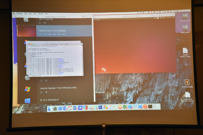デモではUbuntuのターミナルを呼び出し、Mac上でコマンドを入力して、実行結果を見せた