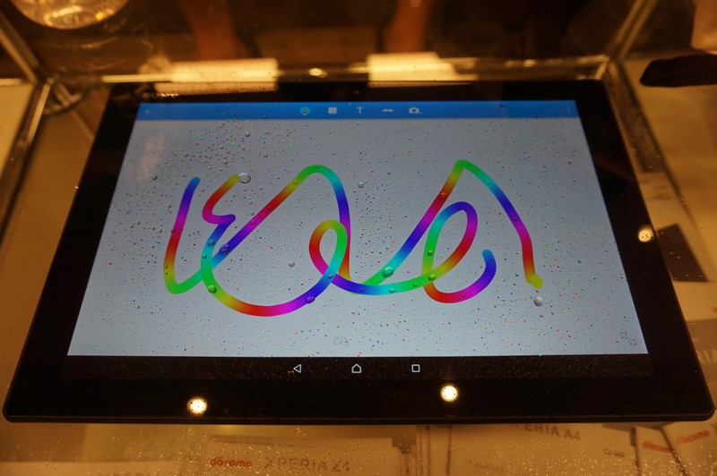 Xperia Z4世代の特徴である濡れていても操作できるタッチパネル