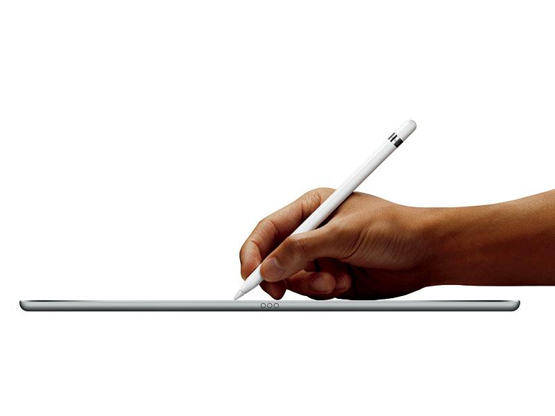 筆圧や傾きを感知するApple Pencil