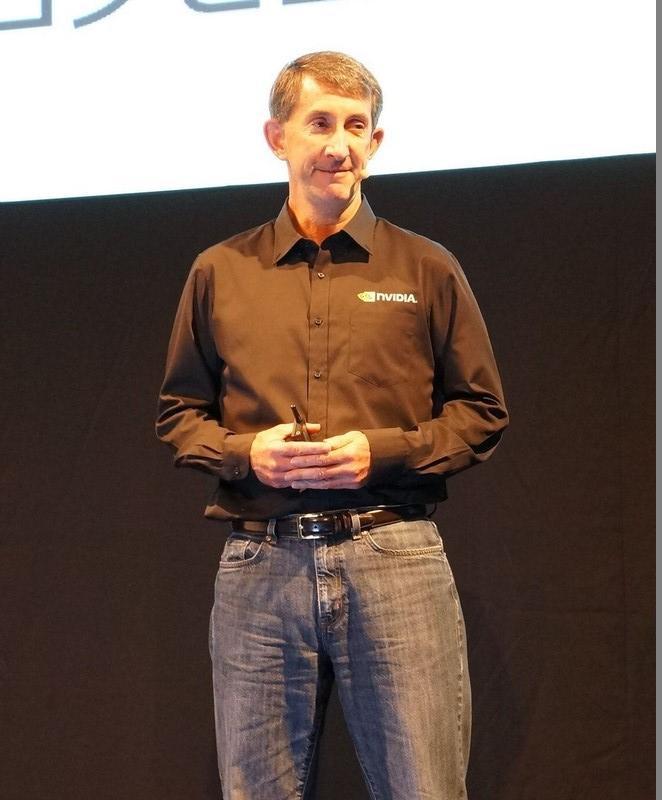 NVIDIAのソリューションアーキテクチャエンジニアリング担当バイスプレジデントをつとめるMarc Hamilton氏。GTC Japan 2015では基調講演の講演者とホスト役を担った