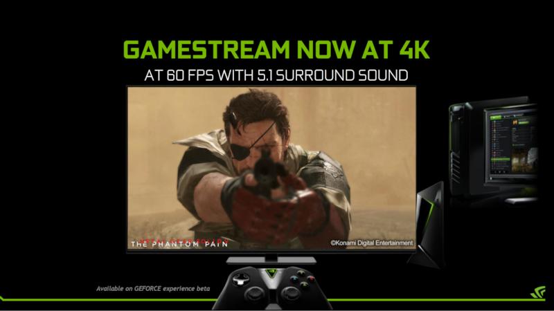 SHIELDへの4K PCゲームストリーミング機能も追加