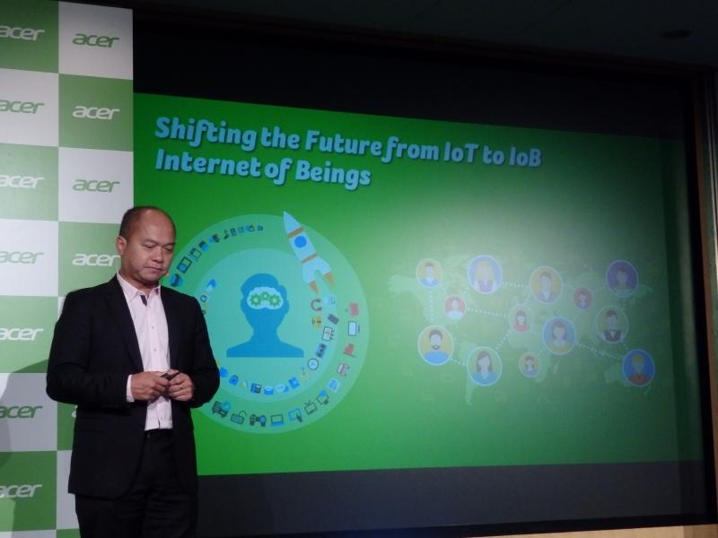 将来ではIoTからIoBにシフトしていくだろう、というAcerのビジョン