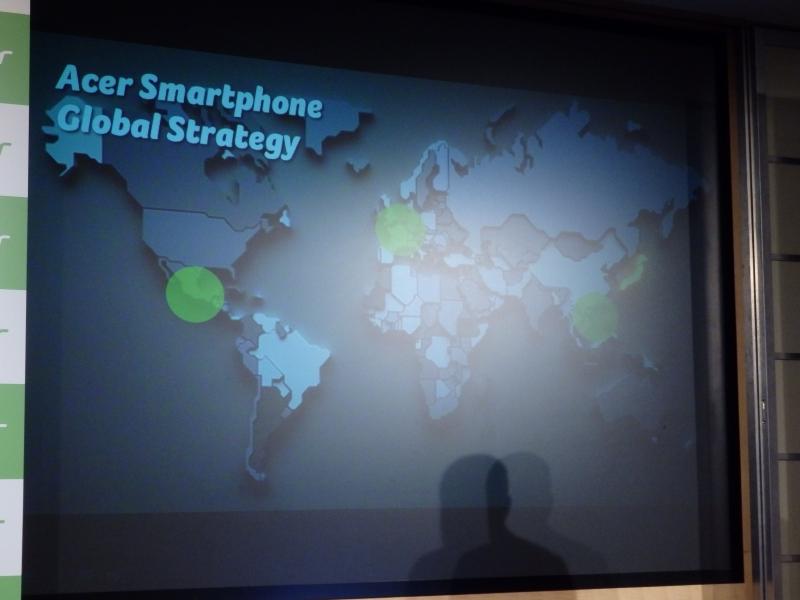 日本はAcerのスマートフォンビジネスにとって4つ目のリージョンとなる